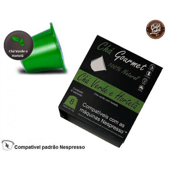Chá Verde e Hortelã Capresso (08 cápsulas)