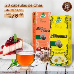 Combo Chá Barão (20 cápsulas compatível Nespresso)