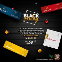Combo Black Friday Café notas Chocolate Mitsuo Nakao (30 cápsulas + 10 Drip)