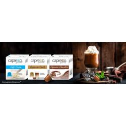 Trio Saboroso Chocolate + Cappuccino Canela + Leite Cream Compatível Nespresso® (30 Cápsulas)