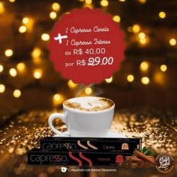 Combo Capresso: 10 Cápsulas de Café com Canela + 10 Cápsulas de Café Gourmet Intenso (20 cápsulas)
