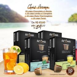 Chás sabores especiais (40 cápsulas compatíveis Nespresso)