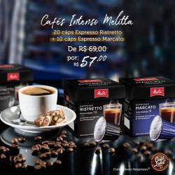 Combo Café Melitta Intenso 30 Cáps 20 Cáps. Ristreto + 10 Cáps Marcato