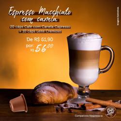 Espresso Macchiato com Canela