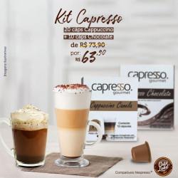 Kit Delícias Capresso: 20 Cáps Cappuccino e 10 Cáps Chocolate