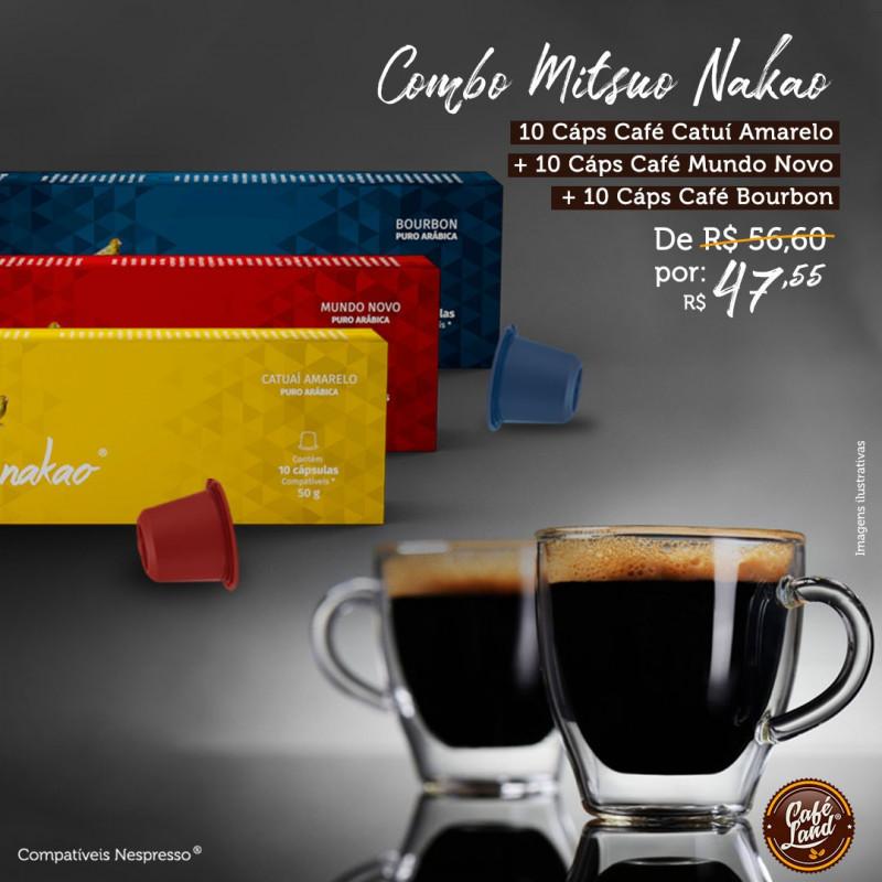 Combo Café Mitsuo Nakao (30 cápsulas)