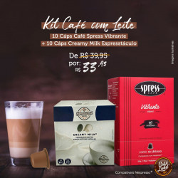 Kit 10 Cáps Café Spress e...