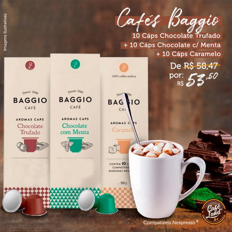 Combo Café Gourmet aromatizado Baggio (30 Cápsulas)