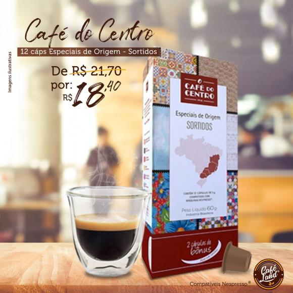 Café do Centro Especiais de Origem (sortidos 12 cápsulas)