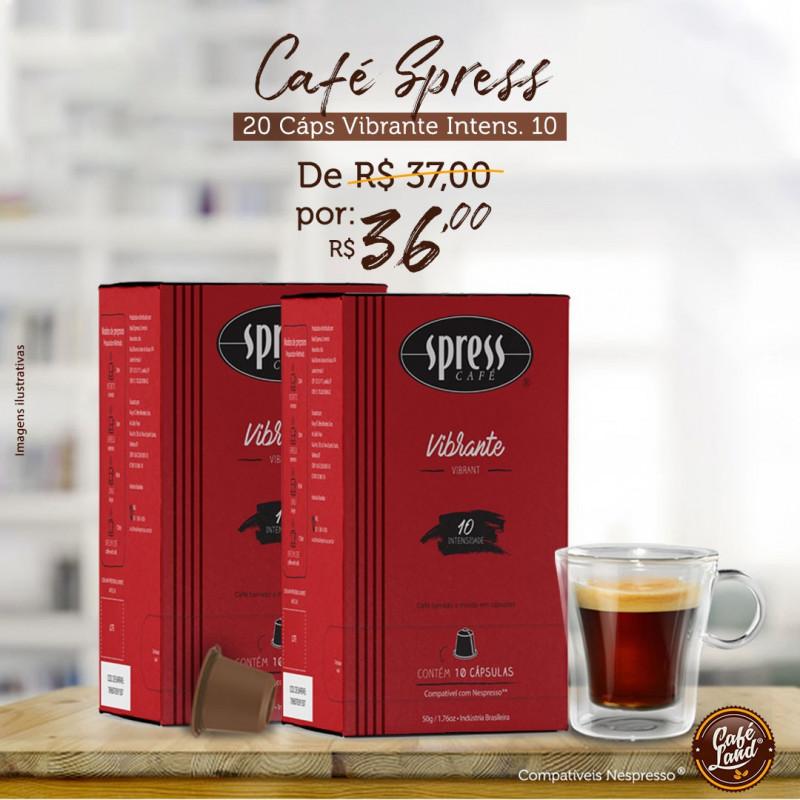 Café Spress Vibrante (20 cápsulas - Intensidade 10)