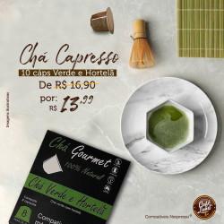 Chá Verde e Hortelã Capresso (08 cápsulas) Nespresso®