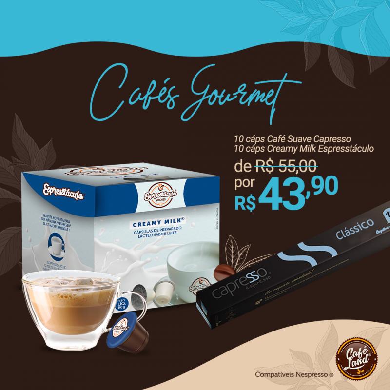 Combo Capresso Intenso: 10 Cáps Leite + 10 Cáps Café Intenso (20 Cáps) compatível Nespresso