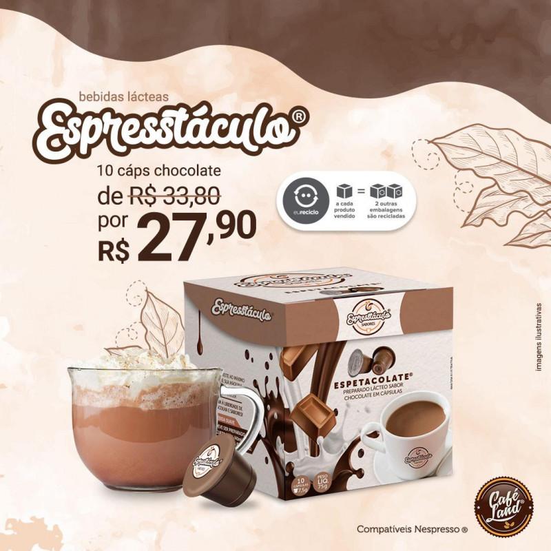 Chocolate: Espetacolate suave curto - 10 Cápsulas compatíveis Nespresso® Capresso  - 1