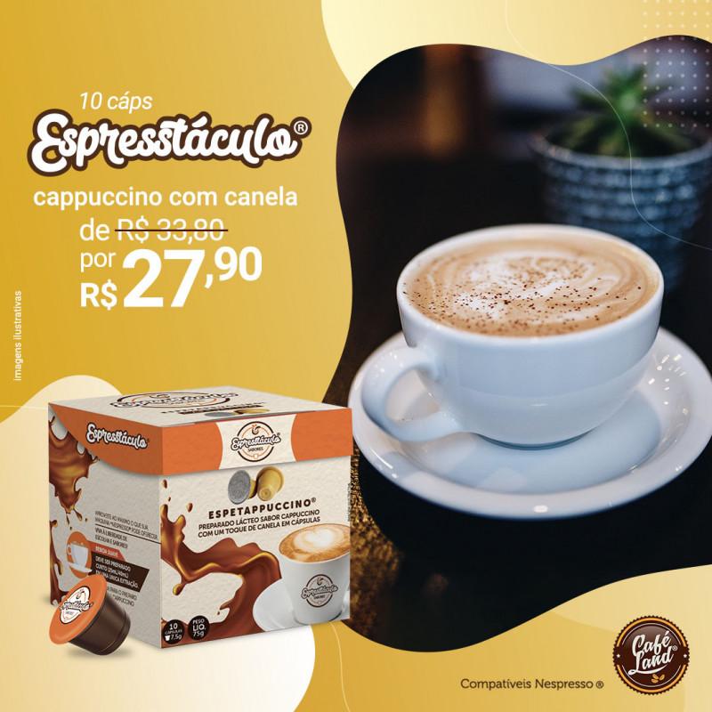 Cappuccino: Espetappuccino com Canela suave curto - 10 Cápsulas compatíveis Nespresso® Capresso  - 1