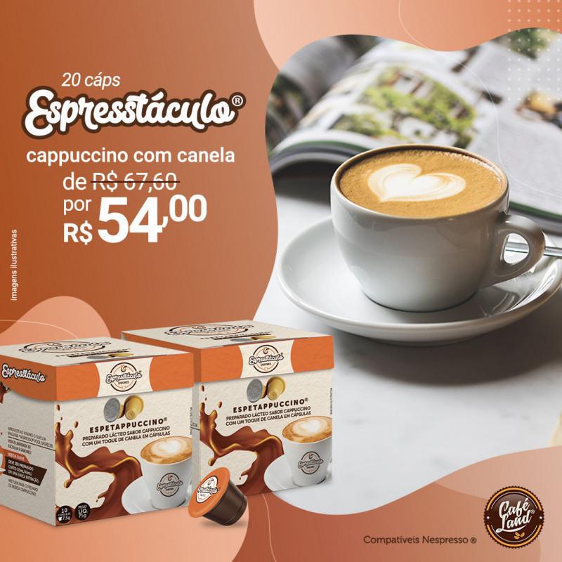 Cappuccino: Dueto Espetappuccino® com Canela suave curto - 20 Cápsulas compatíveis Nespresso® Capresso  - 1