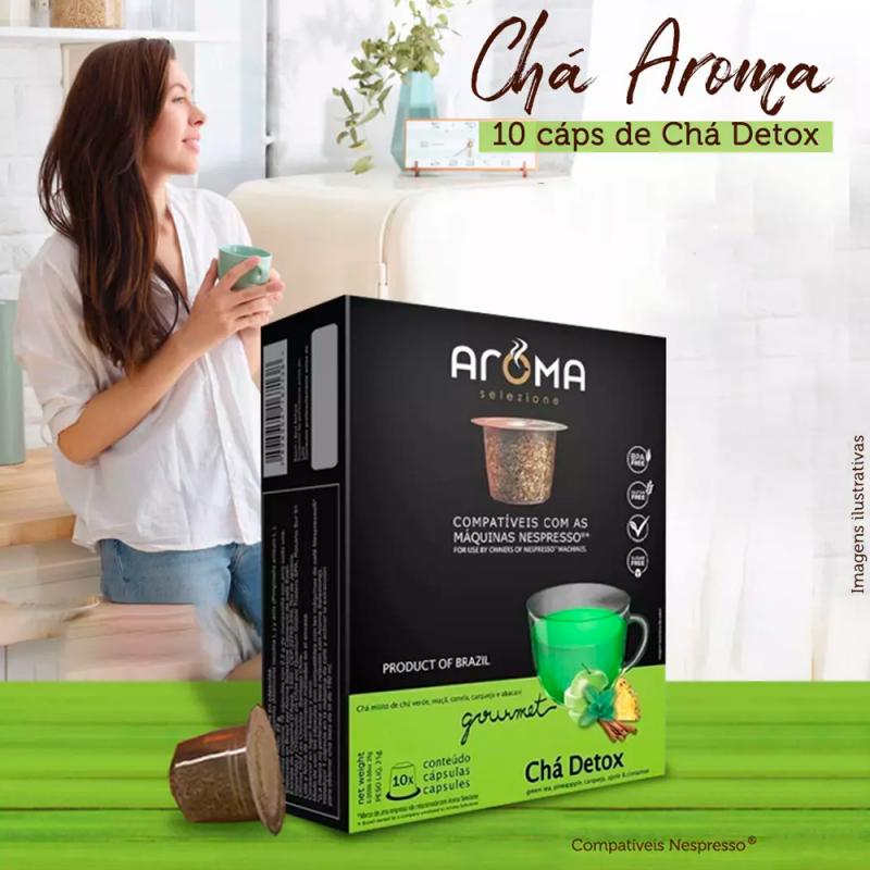 Chá Detox - Aroma 10 Cápsulas compatíveis Nespresso® Aroma Selezione - 4