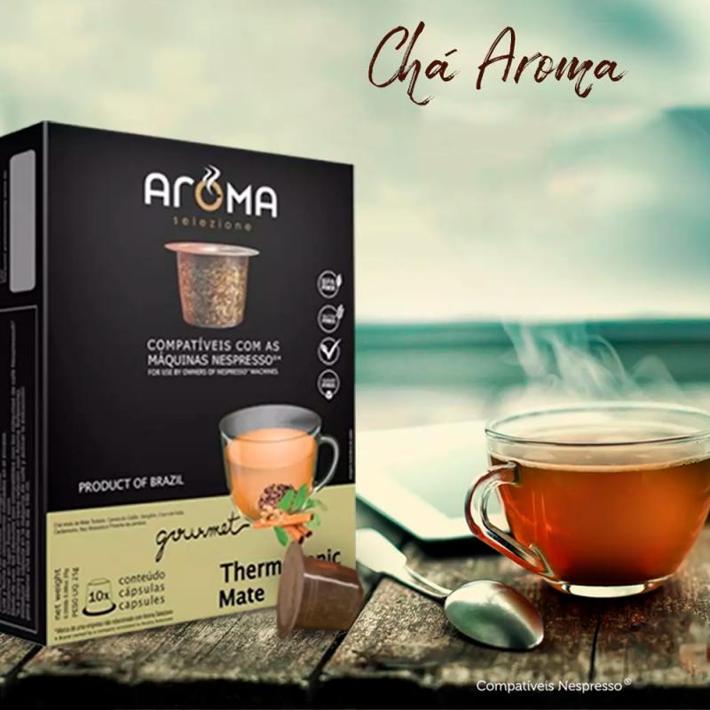 Chá Thermogenic Mate - Aroma 10 Cáps. compatível Nespresso® Aroma Selezione - 1