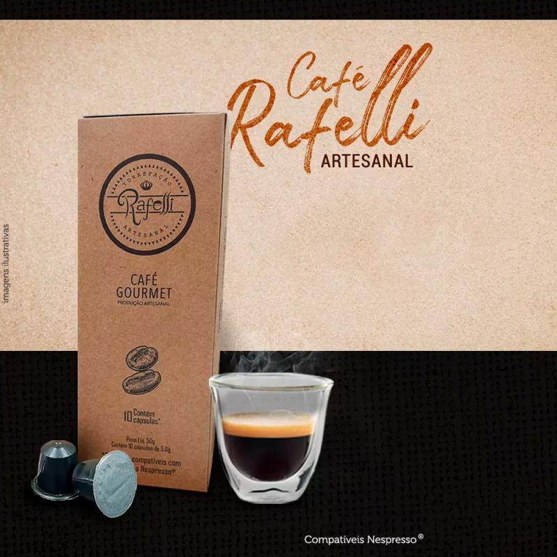 """Café Gourmet Artesanal Rafelli composto por uma """"miscela segreta"""" - 10 cápsulas compatível Nespresso® Rafelli Torrefação Artesan"""